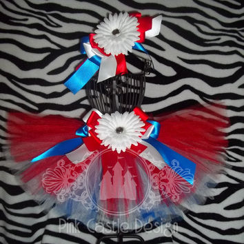 Red, White, Blue Tutu Skirt Set, Independence Day, 4th of July, Patriotic, Pageants, Party, Infant/Toddler, Matching Headband