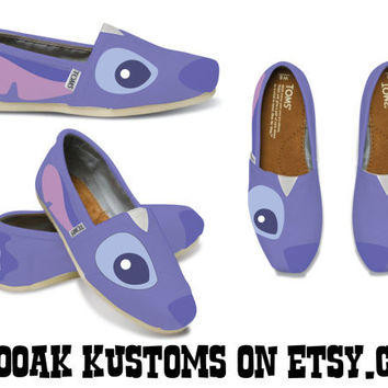 KOOAK Kustoms Disney Stitch Inspired Toms by KammysOneOfAKind