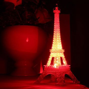 New Romantic Eiffel Tower LED Night Light Desk Wedding Bedroom Decorate Child Gift Lights Lamp M25