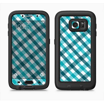 The Vintage Blue & Black Plaid Full Body Samsung Galaxy S6 LifeProof Fre Case Skin Kit