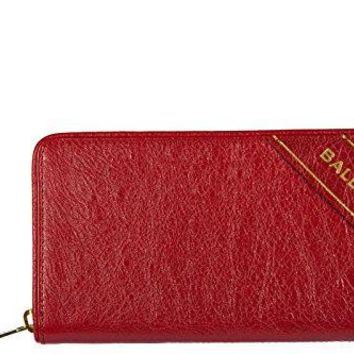 Balenciaga women's wallet leather coin case holder purse card bifold blanket con