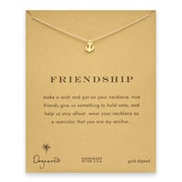 friendship smooth anchor necklace, gold dipped
