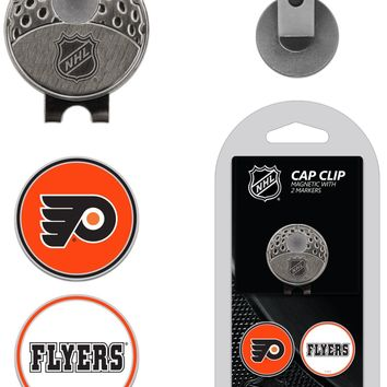 NHL Philadelphia Flyers Hat Clip & 2 Magnetic Golf Ball Markers