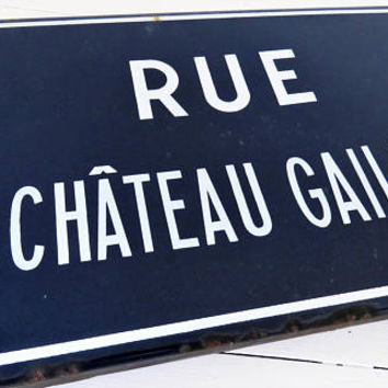 Antique French, Street Sign, Blue Enamel