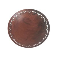 """Hand Carved Mahogany Bowl by Bill Jones 6"""" Use as a Catch All Bowl, Desk Storage or Ring Dish,"""