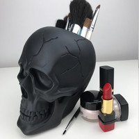 MakeUp Brush Holder - MakeUp Organizer - MakeUp Storage - Brush Holder  - Gift for Her - Skull - Tribal Skull - Skull Makeup Holder