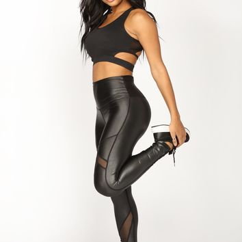 Runnin' To You Active Leggings - Black
