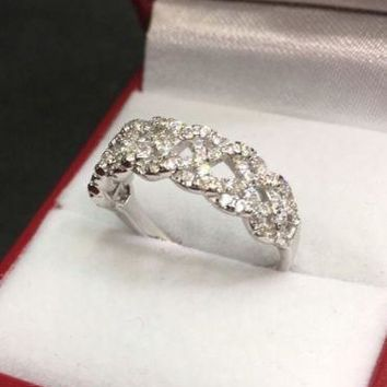 Royal Dazzy Exclusive Cubic Zirconia Handset Wedding ring Band Size 7.75