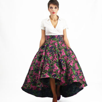 Mother of a Bride - Maxi Skirt, Prom Skirt, Evening Gown, High Waisted Skirt, Full Floral Skirt, High Low Skirt, Plus Size Skirt, Ball Skirt