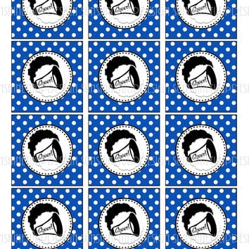 Printable Cheer Cupcake Toppers, Sticker Labels & Gift Tags by SUNSHINETULIPDESIGN
