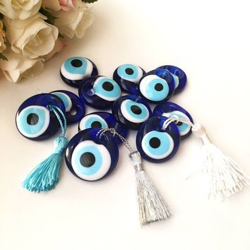 Wedding favors for guest, 100 pcs blue evil eye  beads, bulk gifts