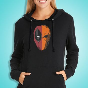 Double Face Deadpool And Death Stroke Women'S Hoodie