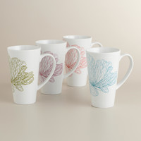 Structural Flower Mugs, Set of 4 - World Market