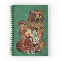 Magic Bearer - Spiral Notebook, Art Notebook, Art Journal, Bear Notebook, Diary Book, Art Planner, Lined Notebook, Journal Notebook, Animal