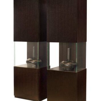 Iris Display Curio Cabinet - Wenge | Display Cabinet