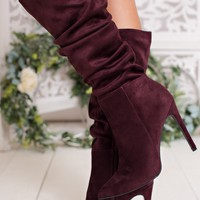 Slay Queen Slouchy Boots (Wine)
