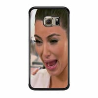 Kim Kardashian Cry Ugly Face Samsung Galaxy S6 Edge Case