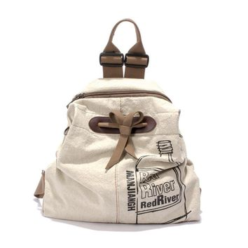 Women Backpacks New Linen Cloth Backpack Bag for Female Vintage Stylish Casual High Quality Graffit Casual Cheap Travel Bag