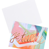 Je T'aime Copper Foil Card