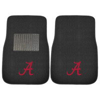 Alabama Crimson Tide NCAA 2-pc Embroidered Car Mat Set