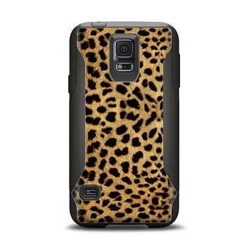 The Orange Cheetah Fur Pattern Samsung Galaxy S5 Otterbox Commuter Case Skin Set