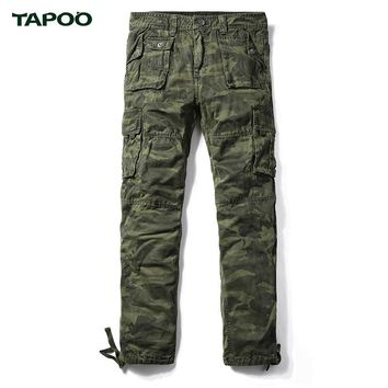 TAPOO 2017 Summer Cargo Pants Men Camouflage Tactical Pants Camo Military Brand Clothing Mens Fashion Hip Hop Trousers