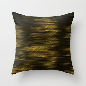 Golden Illusions Throw Pillow by SensualPatterns