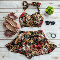 Vintage Two Piece Halter & Shorts