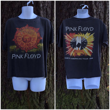 PINK FLOYD T-shirt Vintage 1994 TOUR/ Original North American Concert Tour Celtic Sun Tshirt/ Licence To Brockum Rock Band Tee Size Large