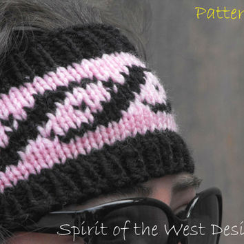 Pocahontas Ear Warmer - Knitting Pattern, headband, headwrap, earwarmer, warmer, teen, adult, stranded, womans accessories, ear-muff, wrap