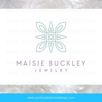 OOAK Premade Logo Design - Flower Mosaic - Perfect for a jewelry brand or a bath and body shop