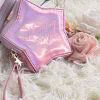 [$12.00]Laser Pink Star Coin Purse by Morning Glory