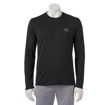 NWT - Men's adidas Climalite Long Sleeve Performance Shirt - BLACK Size XL