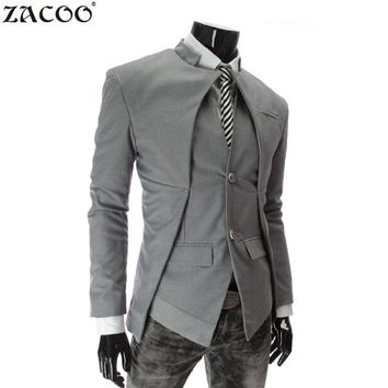 ZACOO 2017 Brand Designer Fashion Mens Suit Jacket England Style Slim Fit Blazer Coats Tuxedo Business Men Suits