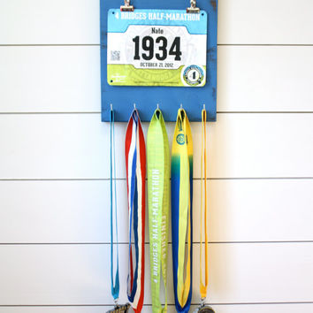 Running Bib and Medal Holder - Running: Cheaper than Therapy
