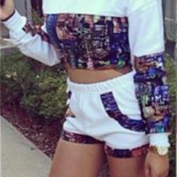 Printed Two Piece Summer Set