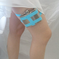 Flask Garter  WITH Flask  You choose the color  by GartersByLori