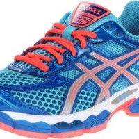 ASICS Women's GEL-Cumulus 15 Running Shoe,Turquoise/Lightning/Electric Melon,12 D US