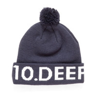 10 Deep: Lower Third Knit Hat - Navy