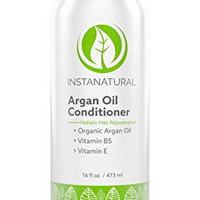 InstaNatural Argan Oil Conditioner - With 100% Certified Organic Moroccan Argan Oil & Vitamin B5 - Best Holistic Treatment for Soft & Silky Hair - Deluxe Nourishment to Hydrate Dry Scalp - 16 OZ
