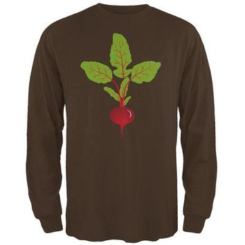 PEAPGQ9 Halloween Vegetable Beet Costume Mens Long Sleeve T Shirt