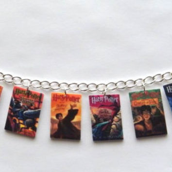 Harry Potter Book Cover Charm bracelet