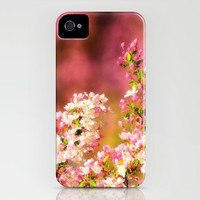 Pretty and Pink crab apple blossoms iPhone Case by Wood-n-Images | Society6