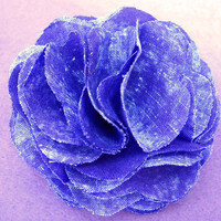 Purple Fabric Rosette Hair/Hat Clip by DaziesHead2Toe on Etsy