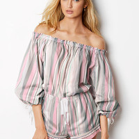 Lightweight Off-the-shoulder Romper - Victoria's Secret