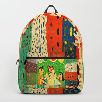 The cup of Rosalia | Full of fairy tales | Painting by Elisavet Backpacks by Azima