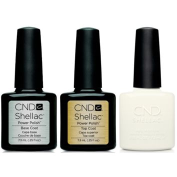 CND - Shellac Combo - Base, Top & White Wedding