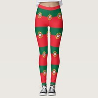 Leggings with flag of Portugal