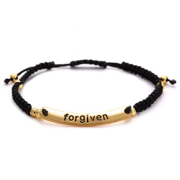 FREE Forgiven Lettering Hand-Woven Bracelets