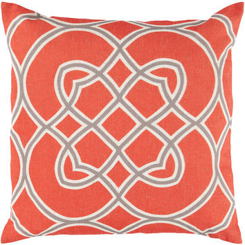 Diamond Accent Pillow in Orange and Grey design by Surya